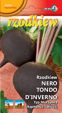 Rzodkiew  RUNDER SCHWARZER (typ Murzynka) NASIONA ZAPRAWIANE